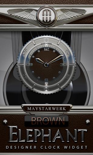 Clock Widget Brown Eleplant
