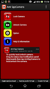 Camera Lock , Disable Camera screenshot 1