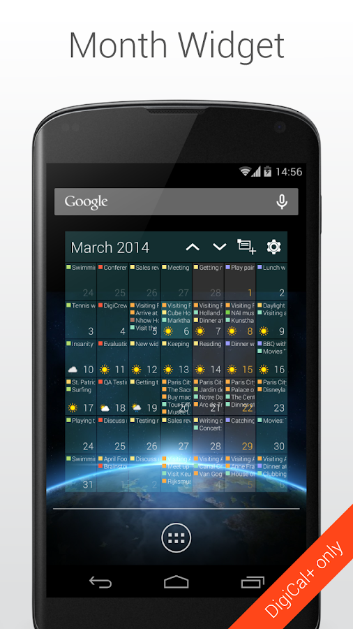 DigiCal+ Calendar & Widgets - screenshot