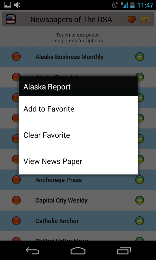 All Newspapers of the USA Free - screenshot