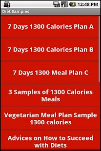 1300 and 1800 Calories Diets - screenshot thumbnail