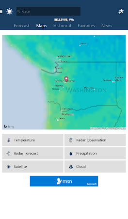 MSN Weather - Forecast & Maps 1.1.0 screenshot 18619
