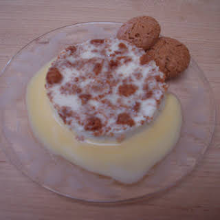 Amaretti Panna Cotta with Amaretto Custard.