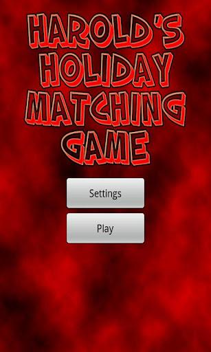 Harold's Holiday Matching Game