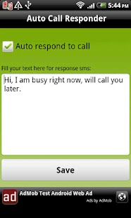 Auto Call Responder - screenshot thumbnail