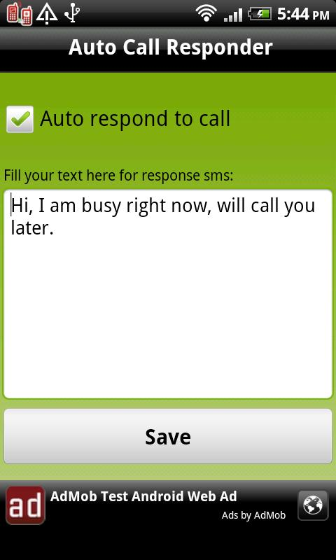 Auto Call Responder - screenshot