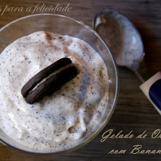 Banana and Oreo Mousse/Ice Cream.