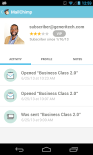 MailChimp for Android - screenshot thumbnail