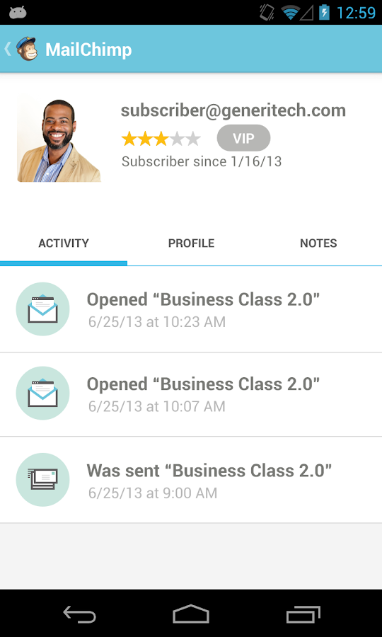 MailChimp- screenshot