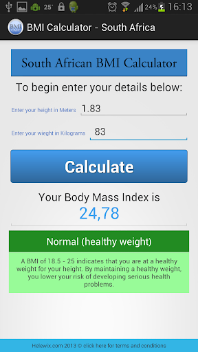 Body Mass Index Calculator KG