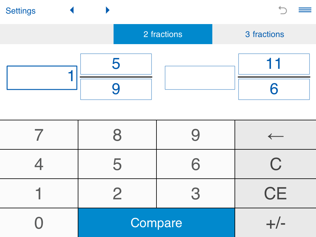 worksheet Compare Fractions compare fractions calculator android apps on google play screenshot