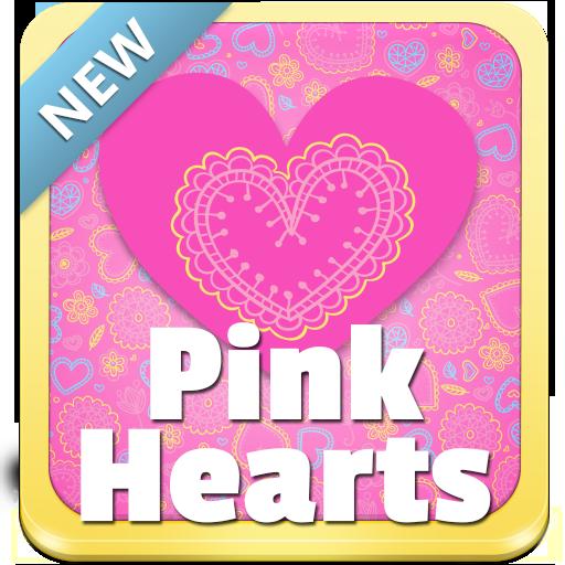 粉紅色的心的鍵盤 個人化 App LOGO-APP開箱王