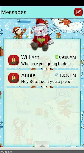 【免費個人化App】SnowSanta/GO SMS THEME-APP點子