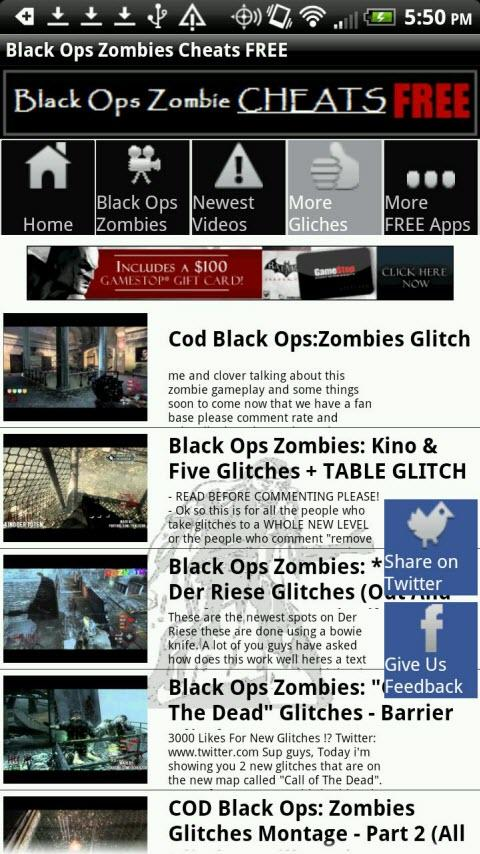 Black Ops Zombies Cheats FREE - screenshot
