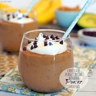 Chocolate Peanut Butter Banana Power Smoothie.