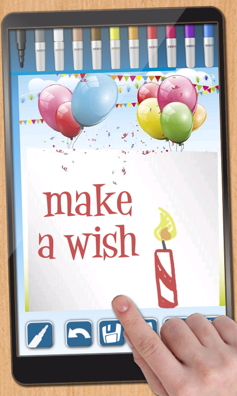 Design birthday cards- screenshot