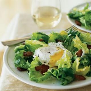 Warm Escarole, Egg and Bacon Salad