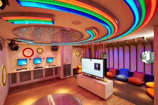 Europa-2-Teens-Club - Guests ages 11 to 15 are welcome at the colorful, entertaining Teens Club aboard Europa 2.