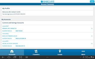 Screenshot of Barclays Mauritius