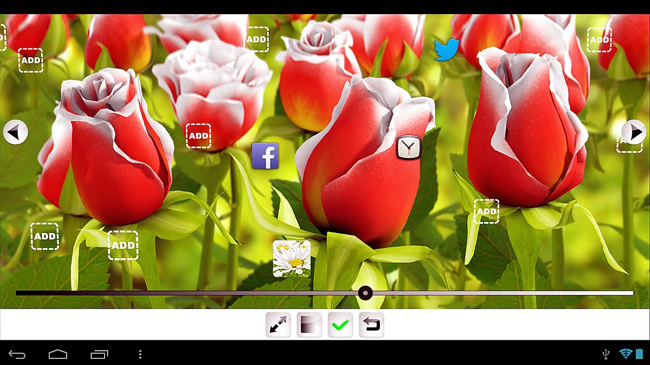 My Flower 3D Live wallpaper – Screenshot