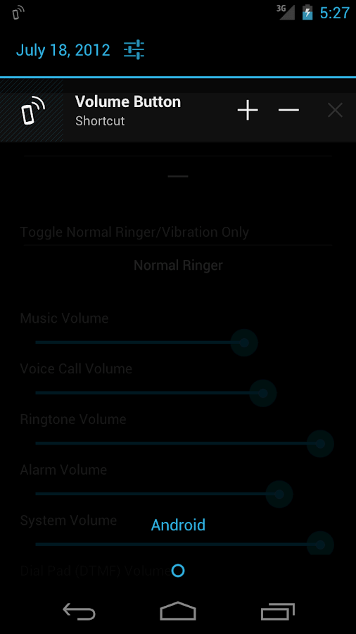 Volume Button- screenshot