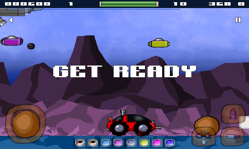 Space Rover (Moon Patrol) - screenshot