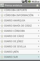 Screenshot of Prensa andaluza