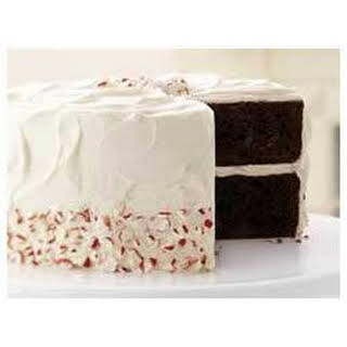 Chocolate-Candy Cane Cake.