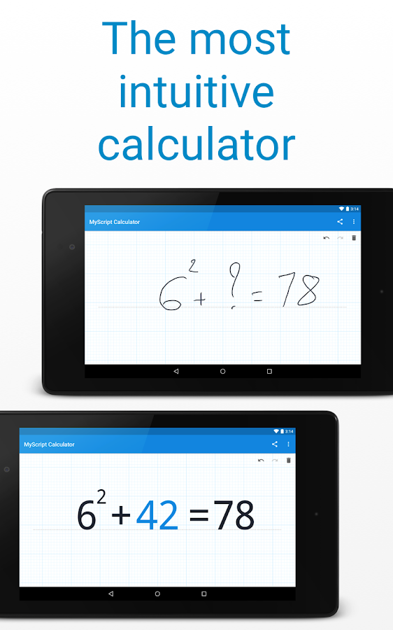 MyScript Calculator – képernyőkép