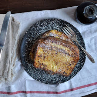 Decadent Custard Orange-Vanilla Brioche French Toast.