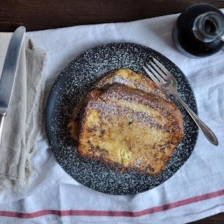 Decadent Custard Orange-Vanilla Brioche French Toast.