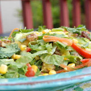 Mexican Salad With Chipotle Lime Dressing.