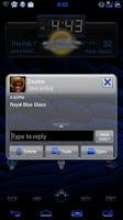 Screenshot of GO SMS Royal Blue Glass Theme