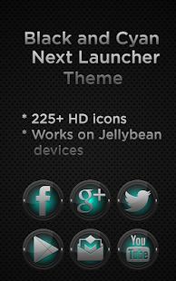 Next Launcher Black and Cyan- screenshot thumbnail
