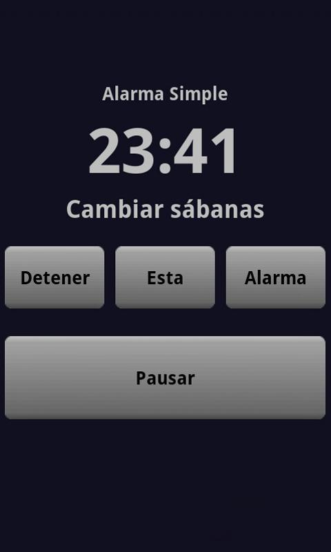 Simple Alarm Clock - screenshot