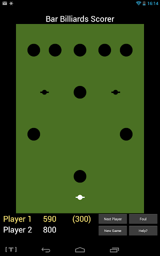 Bar Billiards Scorer