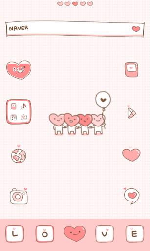 love pink dodol launcher theme