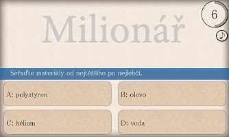 Screenshot of Milionář Free