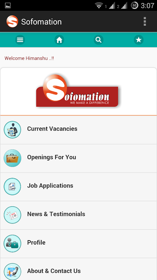 Sofomation Job Search- screenshot