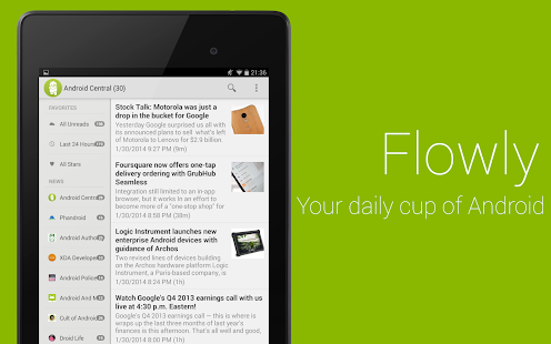 Flowly Pro - News for Android™ - screenshot thumbnail