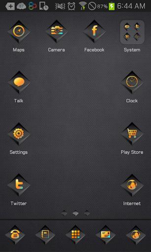 BlackSwitch go launcher theme