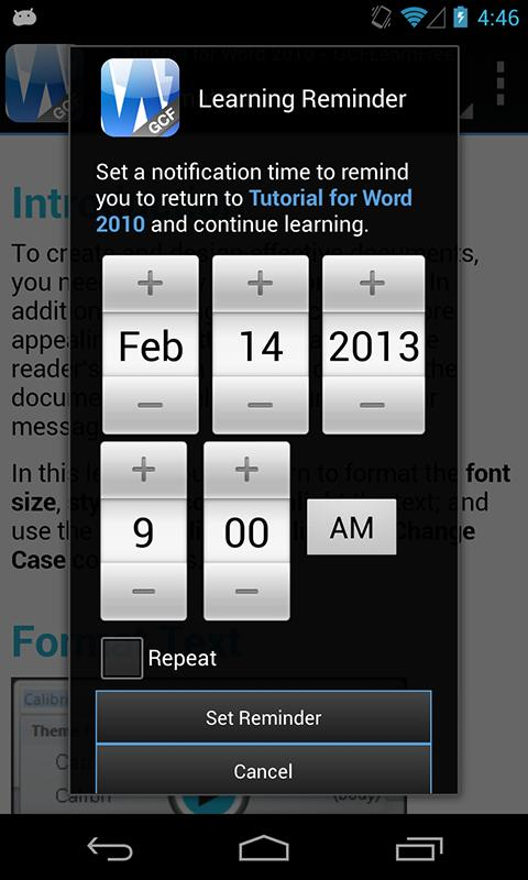 GCF Word 2010 Tutorial- screenshot