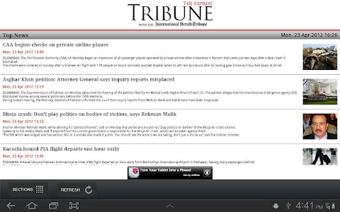The Express Tribune News screenshot 1