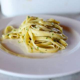 Buttery Lemon Parsley Noodles.