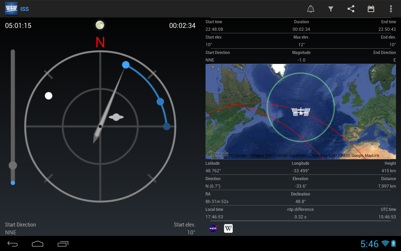 ISS Detector Satellite Tracker - Android Apps on Google Play