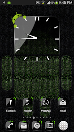 Crystal Black Clock Widget Screenshot 3