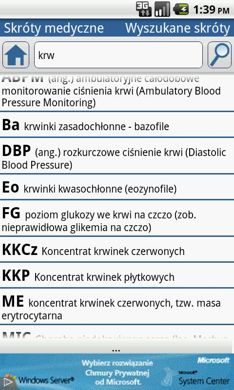 Medical Abbreviations PL - screenshot