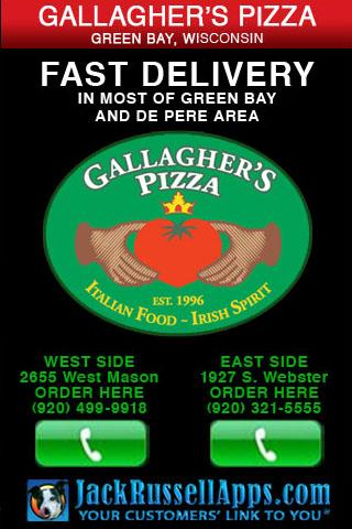 Gallagher's Pizza Green Bay- screenshot
