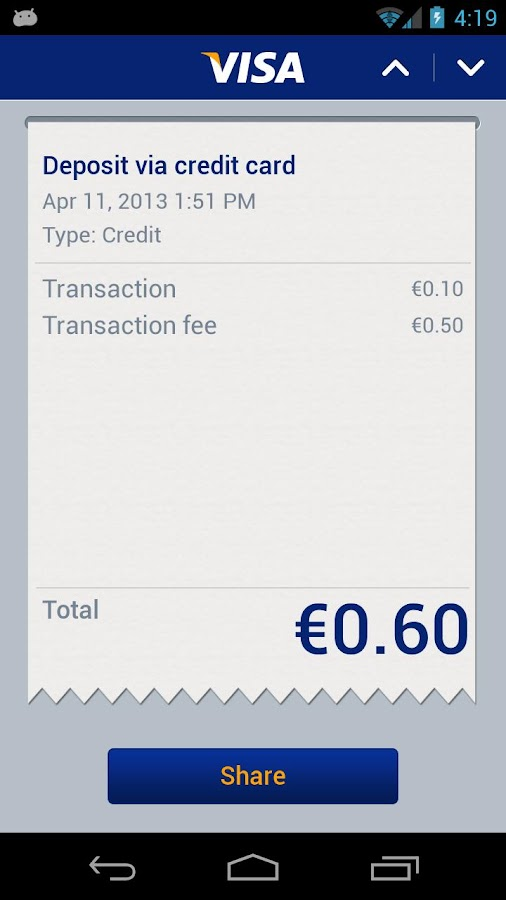 Visa Mobile Prepaid - screenshot