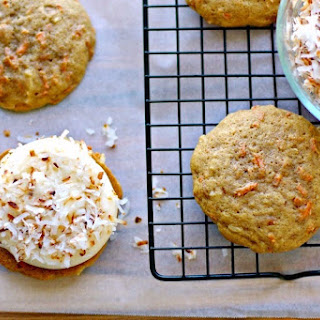 Carrot Cake Whoopie Pies with Coconut.